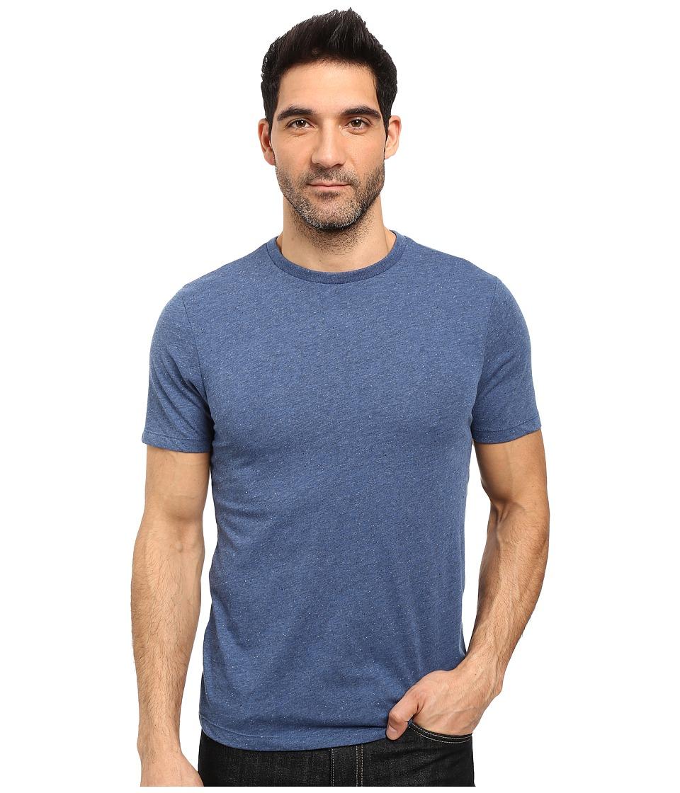 Threads 4 Thought - Tri-Blend Knapp Crew Short Sleeve Tee (Dark Blue) Men's T Shirt