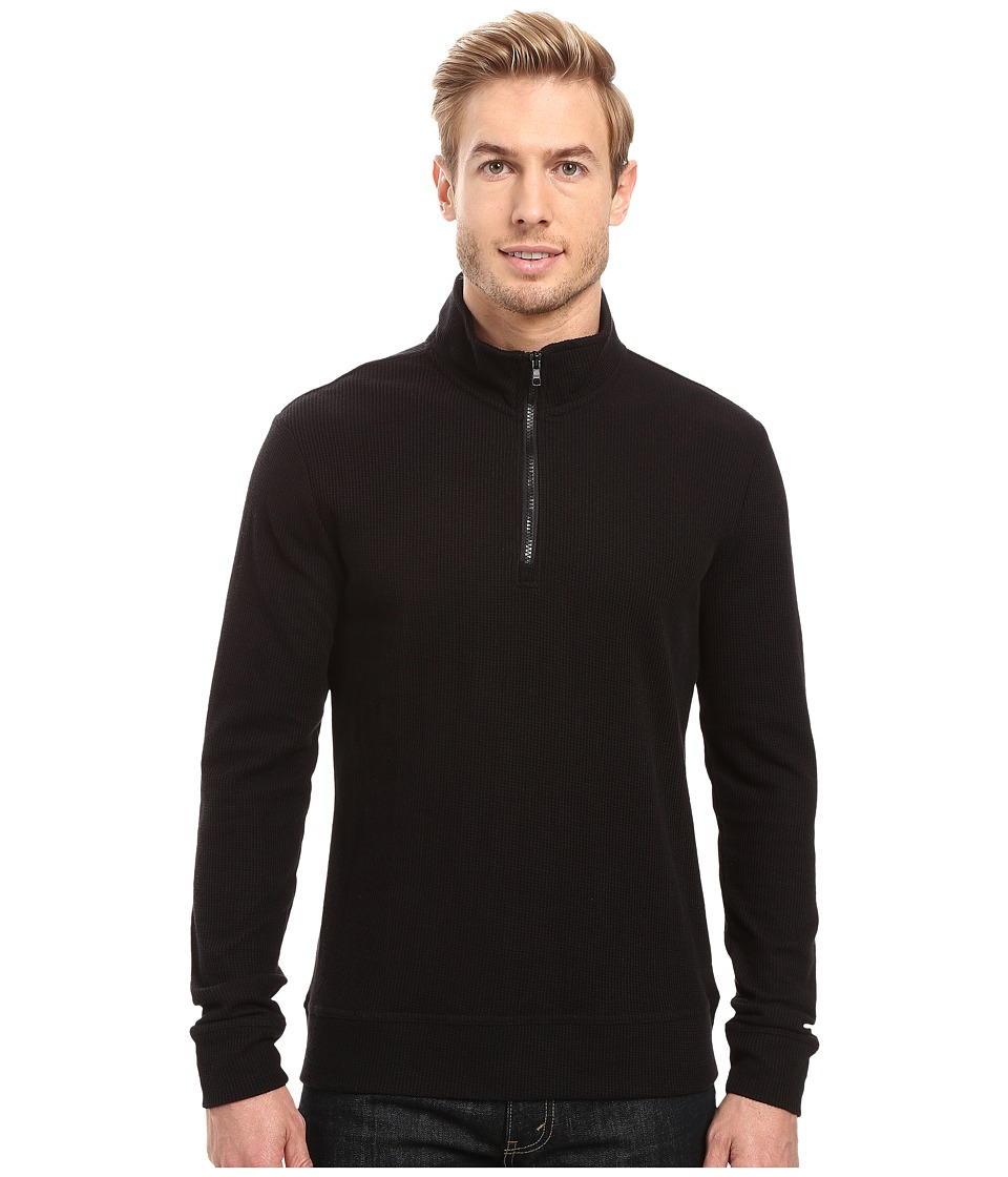 Threads 4 Thought - 1/2 Zip Thermal Mock Neck (Black) Men's Clothing