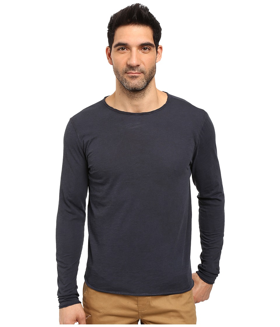 Threads 4 Thought - Pigment Dyed Long Sleeve Raw (Blue Nights) Men's T Shirt