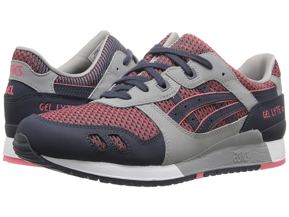 ASICS Tiger - Gel-Lyte III (Medium Grey/Guava) Athletic Shoes