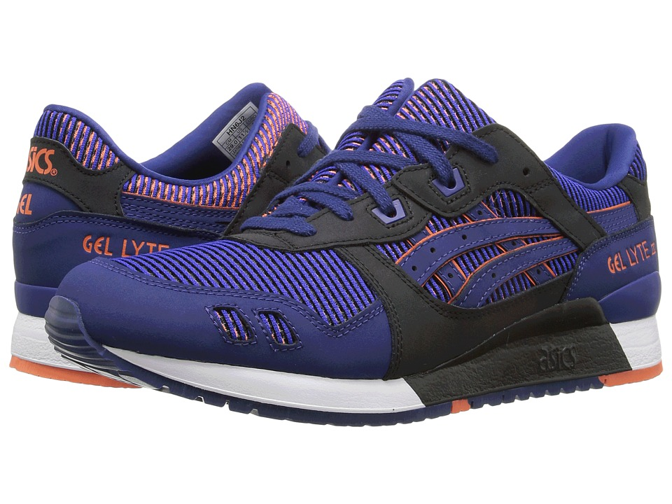 ASICS Tiger - Gel-Lyte III (Blue Print/Orange) Athletic Shoes