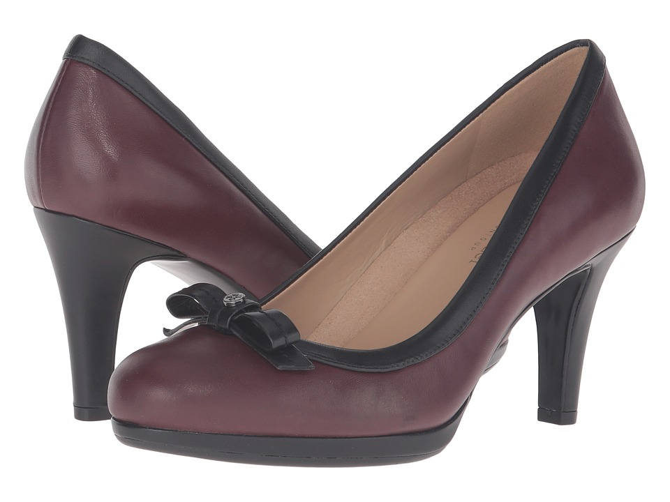 Naturalizer - Maizie (Bordo/Black) High Heels