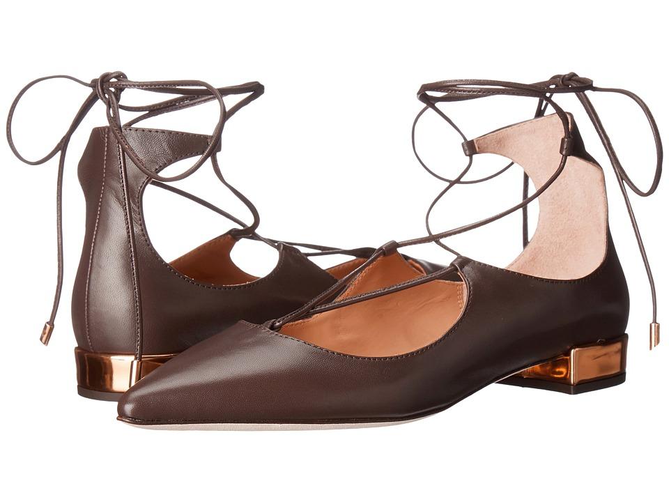 Massimo Matteo Lace-Up Flat (Brown) Women