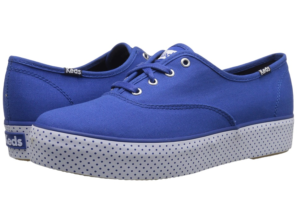Keds - Triple Dot Foxing (Blue) Women's Shoes