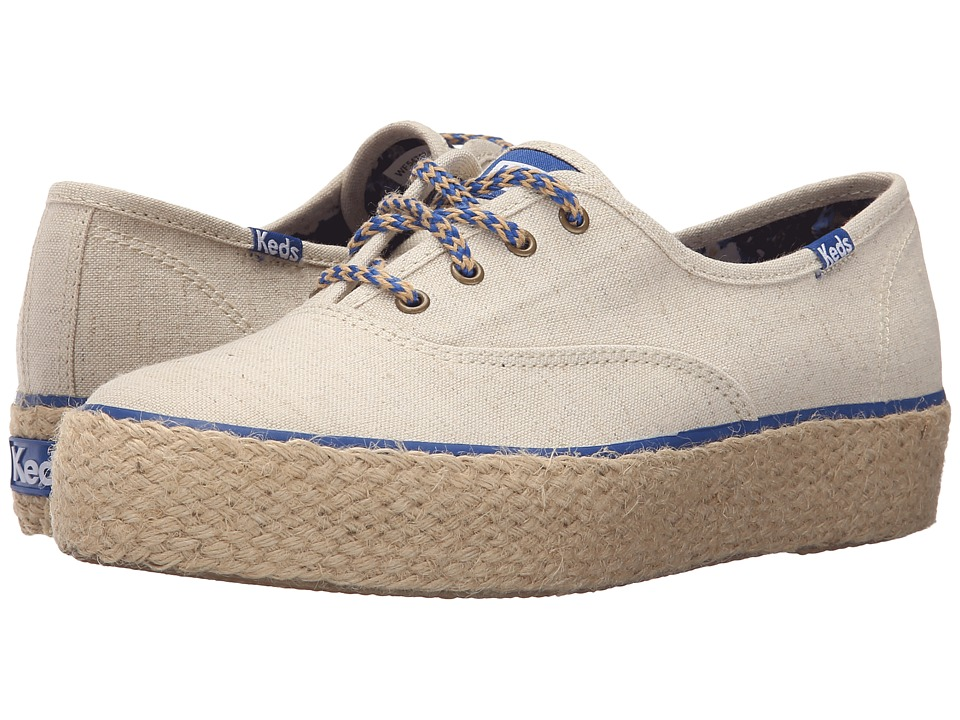 Keds - Triple Liberty Linen (Natural) Women's Shoes