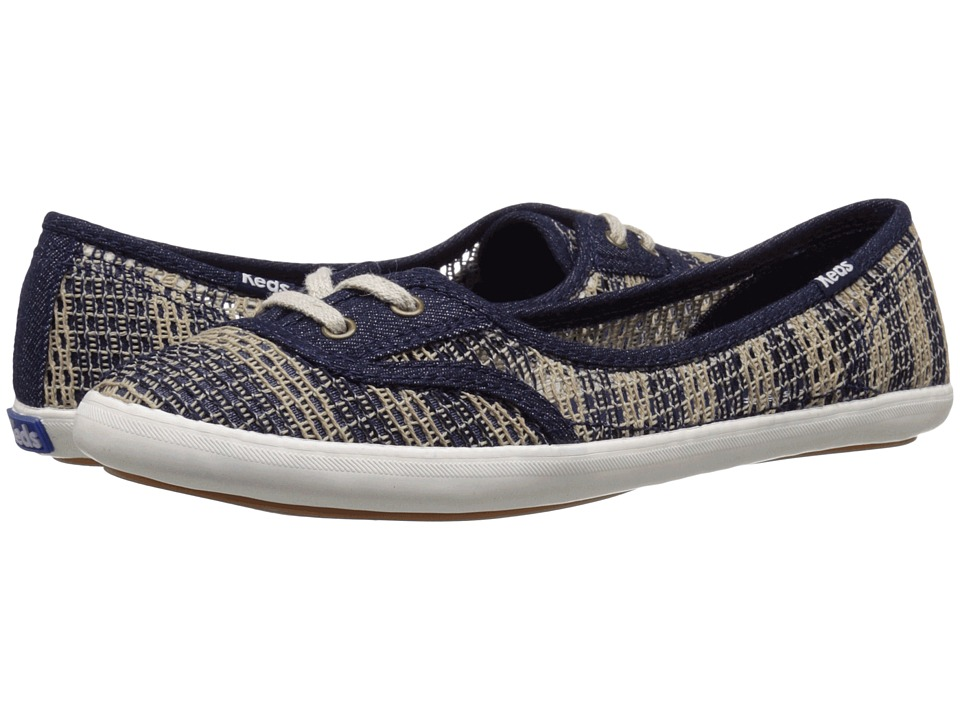 Keds - Teacup Crotchet (Natural/Navy) Women's Shoes