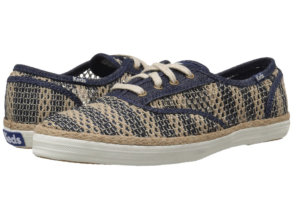 Keds Champion Crochet Stripe (Natural/Navy) Women