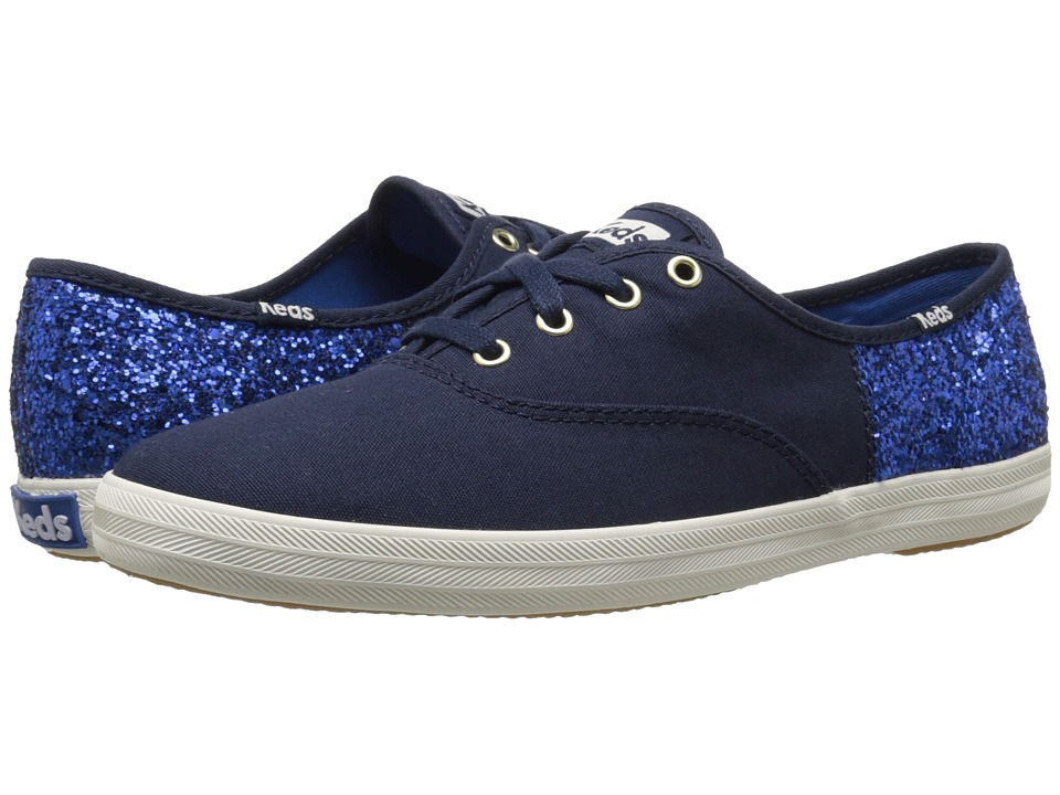 Keds - Champion 50/50 Glitter (Navy/Blue) Women's Shoes