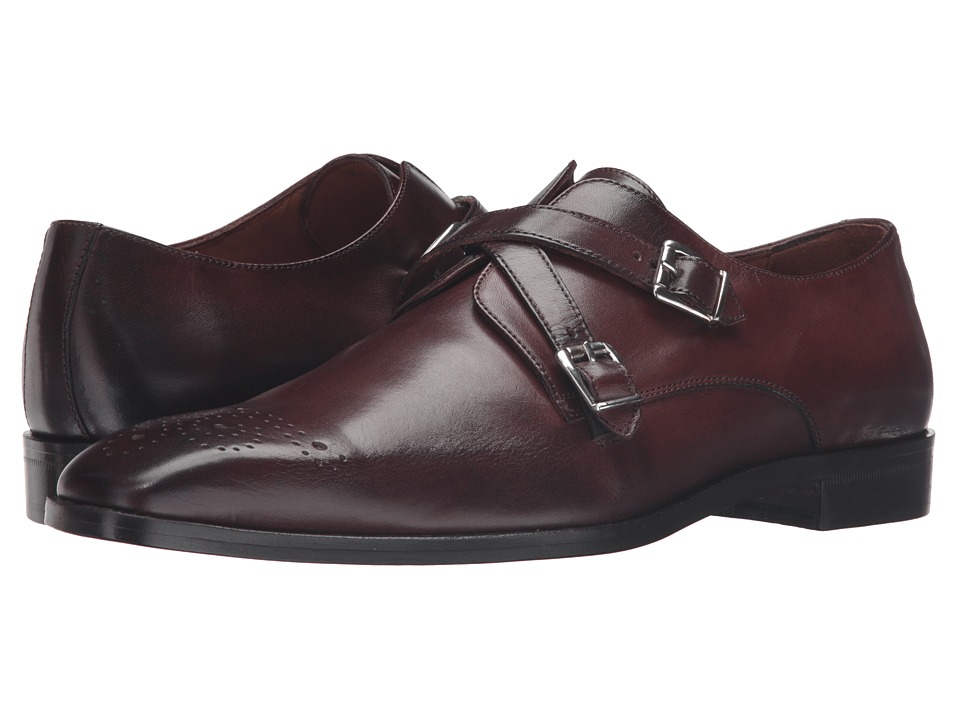 Massimo Matteo - Cross Strap Slip-On (Chocolate/Chocolate) Men's Shoes