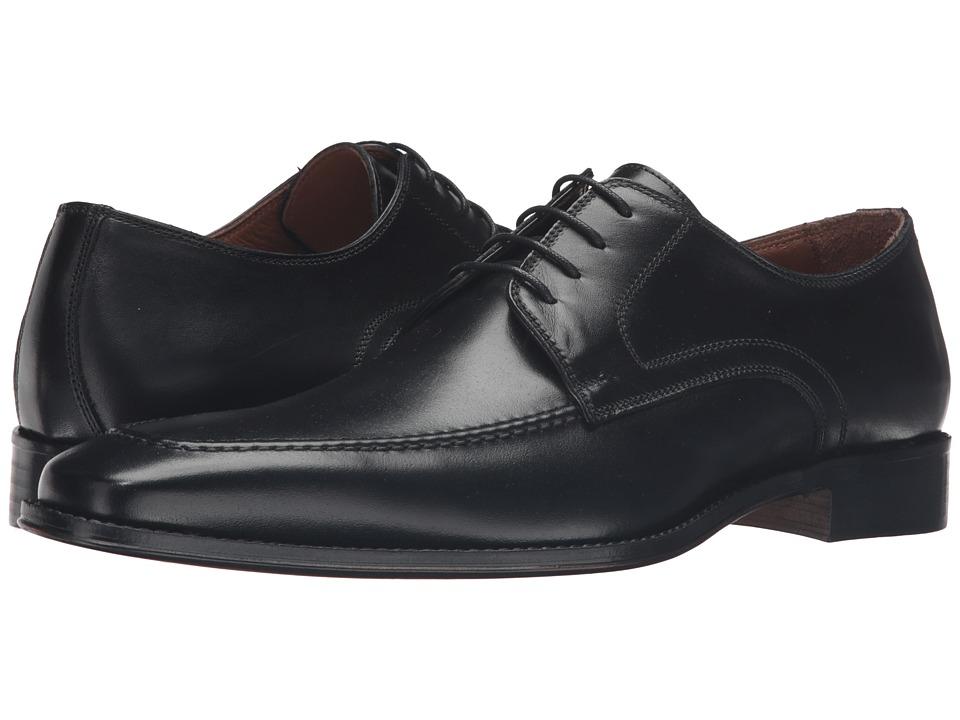Massimo Matteo - 4-Eye Mocc Toe (Black) Men's Lace Up Moc Toe Shoes