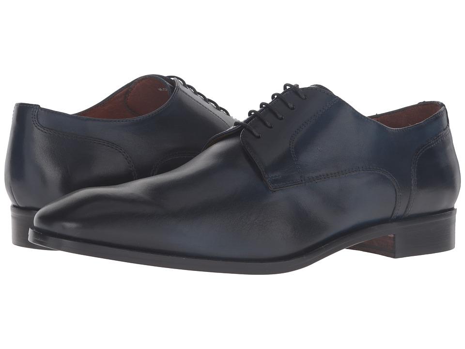 Massimo Matteo - 5-Eye Blucher (Navy) Men's Shoes