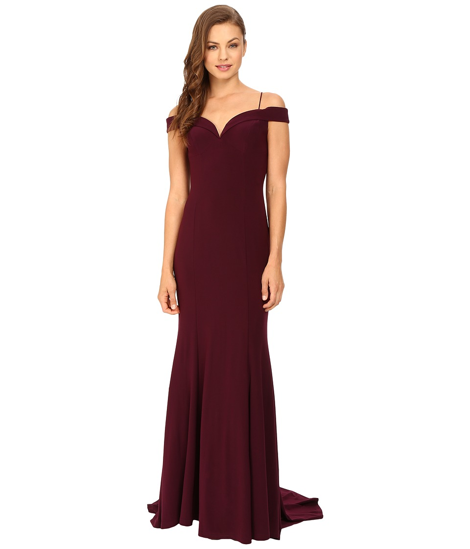 Adrianna Papell - Off Shoulder Mermaid Gown (Cassis) Women's Dress
