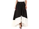 High-Low Color Block Taffeta Skirt
