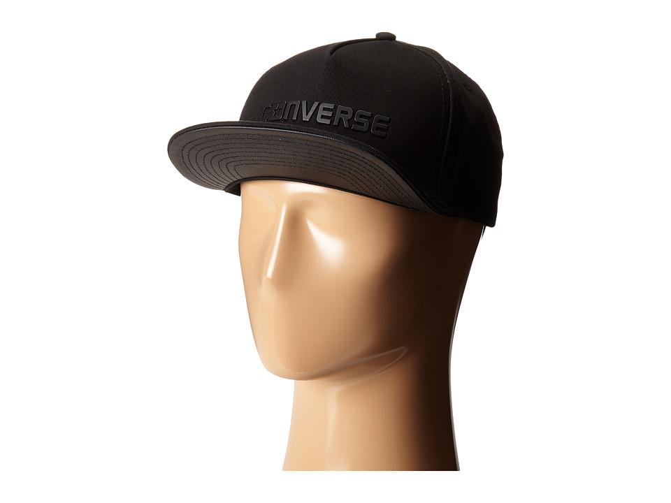 Converse - Rubber TPU Snapback Cap (Black) Caps