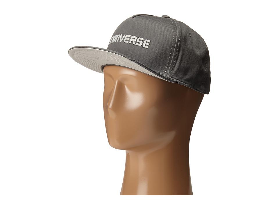 Converse - Rubber TPU Snapback Cap (Converse Charcoal) Caps