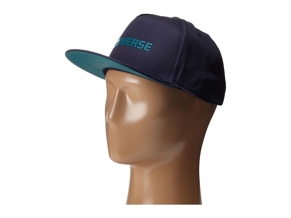 Converse - Rubber TPU Snapback Cap (Converse Navy) Caps