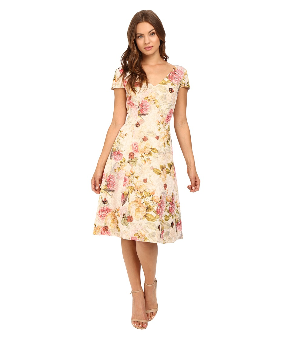 Adrianna Papell Matelasse Fit Flare Cocktail Dress