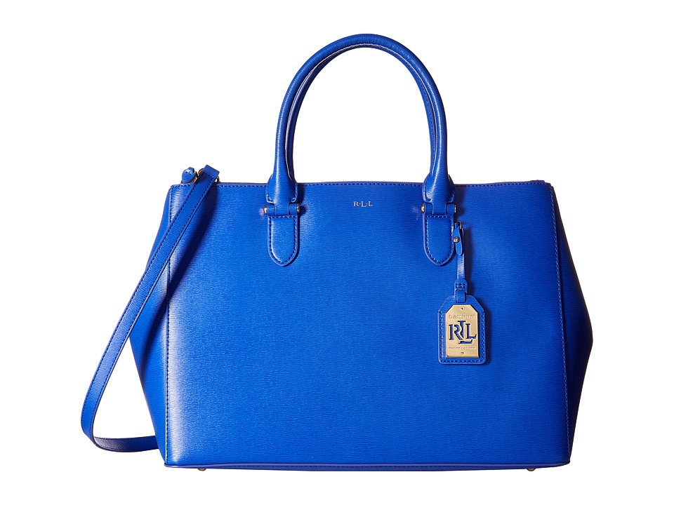 LAUREN Ralph Lauren - Newbury Double Zip Satchel (Pacific Blue) Satchel Handbags