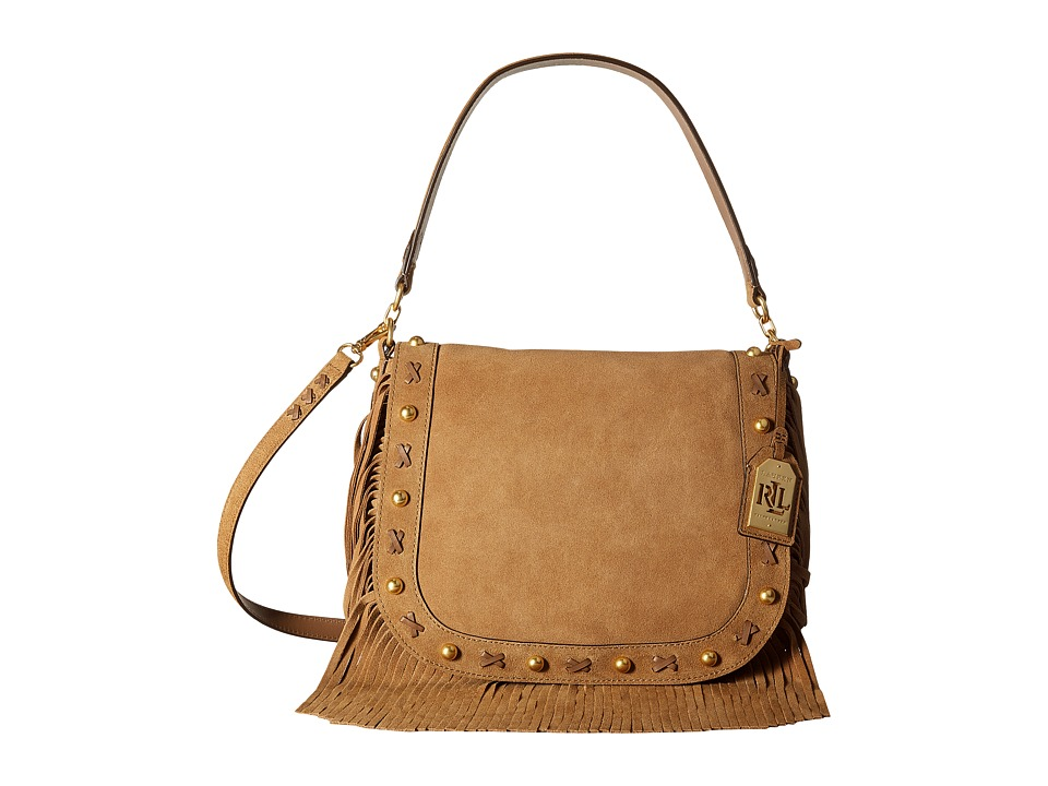 LAUREN Ralph Lauren - Layla Crossbody (Nutmeg) Cross Body Handbags