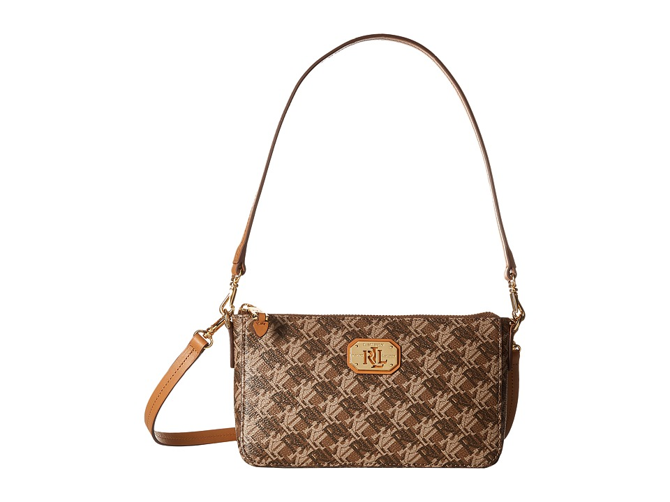 LAUREN Ralph Lauren - Pam Shoulder Bag (Brown) Tote Handbags