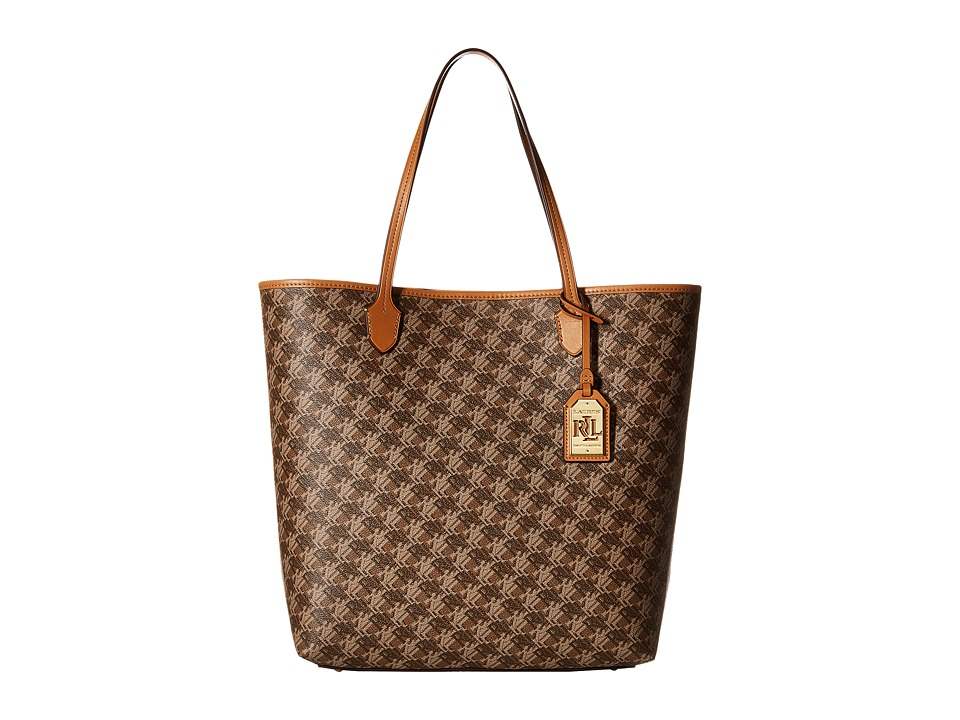 LAUREN Ralph Lauren - Dobson Dalia Tote (Brown) Tote Handbags