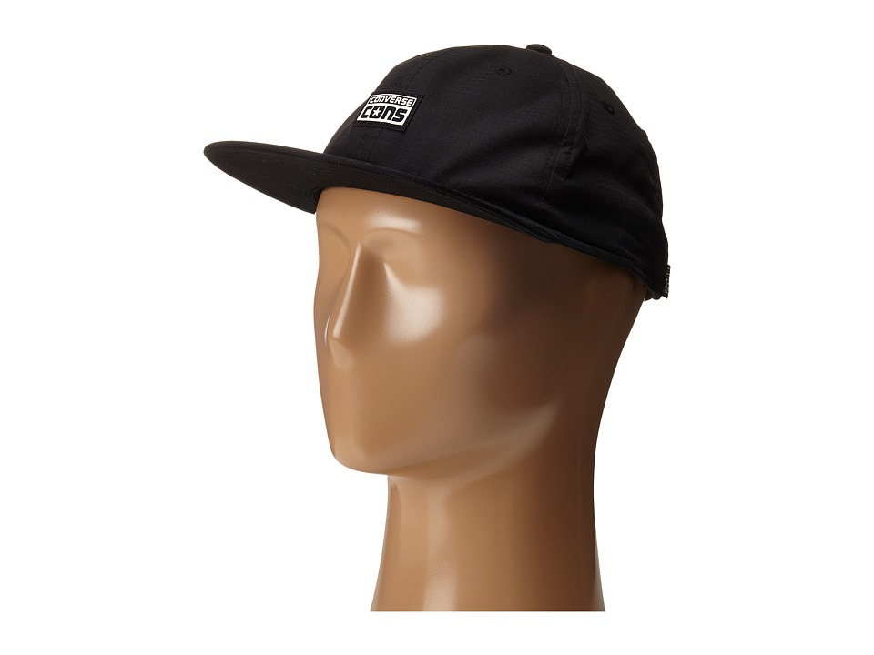 Converse - Cons Canvas Deconstructed Cap (Converse Black) Caps