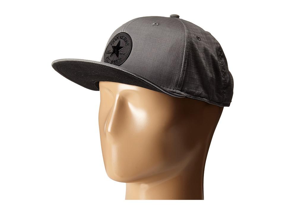 Converse - Nylon Ripstop Snapback Cap (Grey) Caps