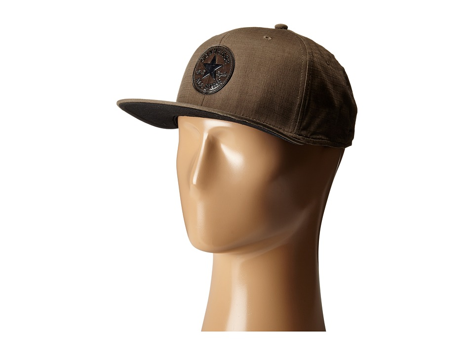 Converse - Nylon Ripstop Snapback Cap (Olive) Caps