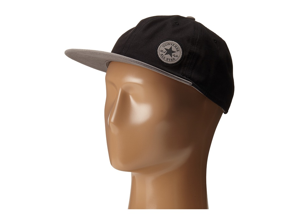 Converse - Small Patch Colorblock Adjustable Cap (Con Black) Caps