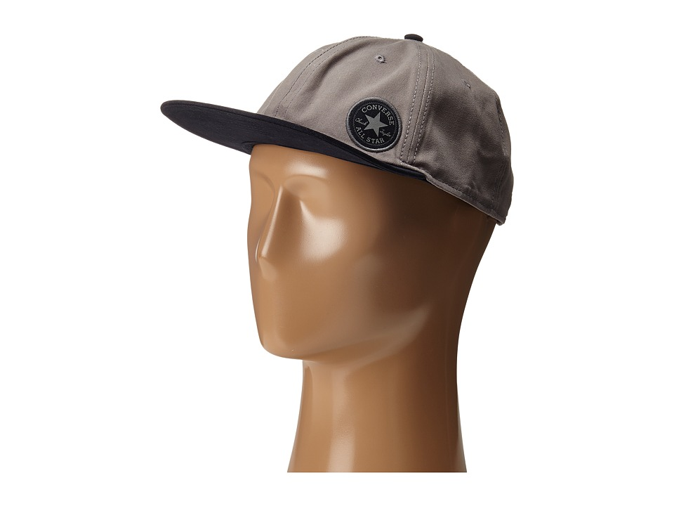 Converse - Small Patch Colorblock Adjustable Cap (Con Charcoal) Caps
