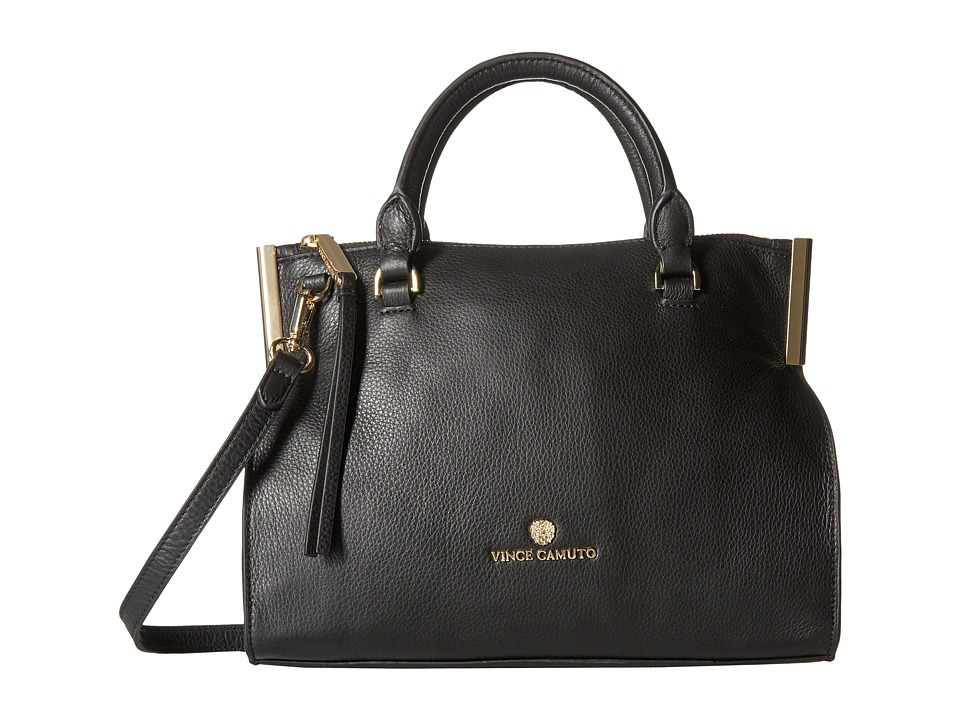 Vince Camuto - Tina Small Satchel (Black) Satchel Handbags