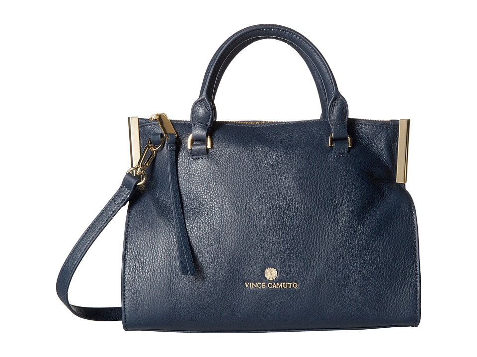 Vince Camuto - Tina Small Satchel (Dress Blue) Satchel Handbags