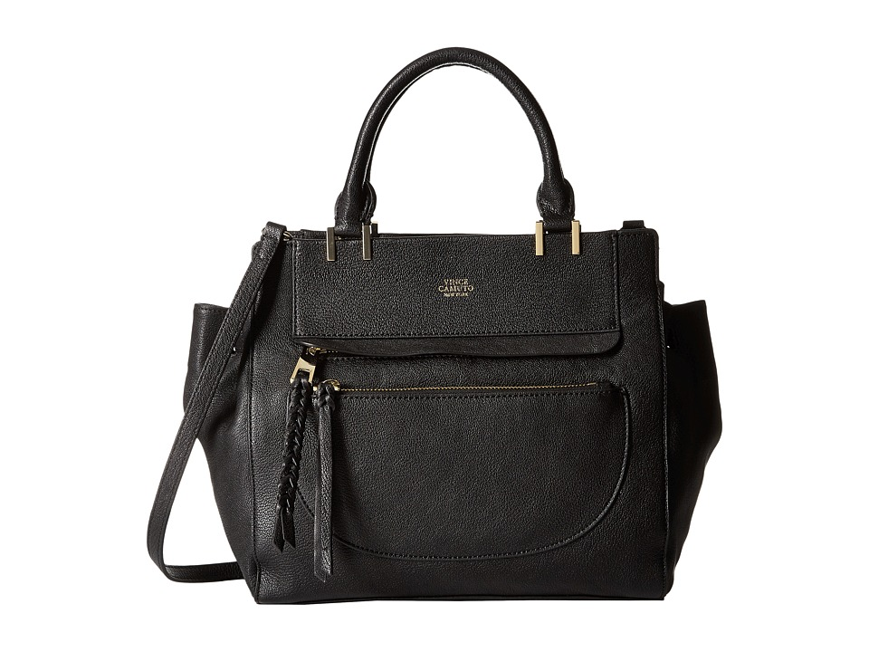Vince Camuto - Ayla Satchel (Black) Satchel Handbags