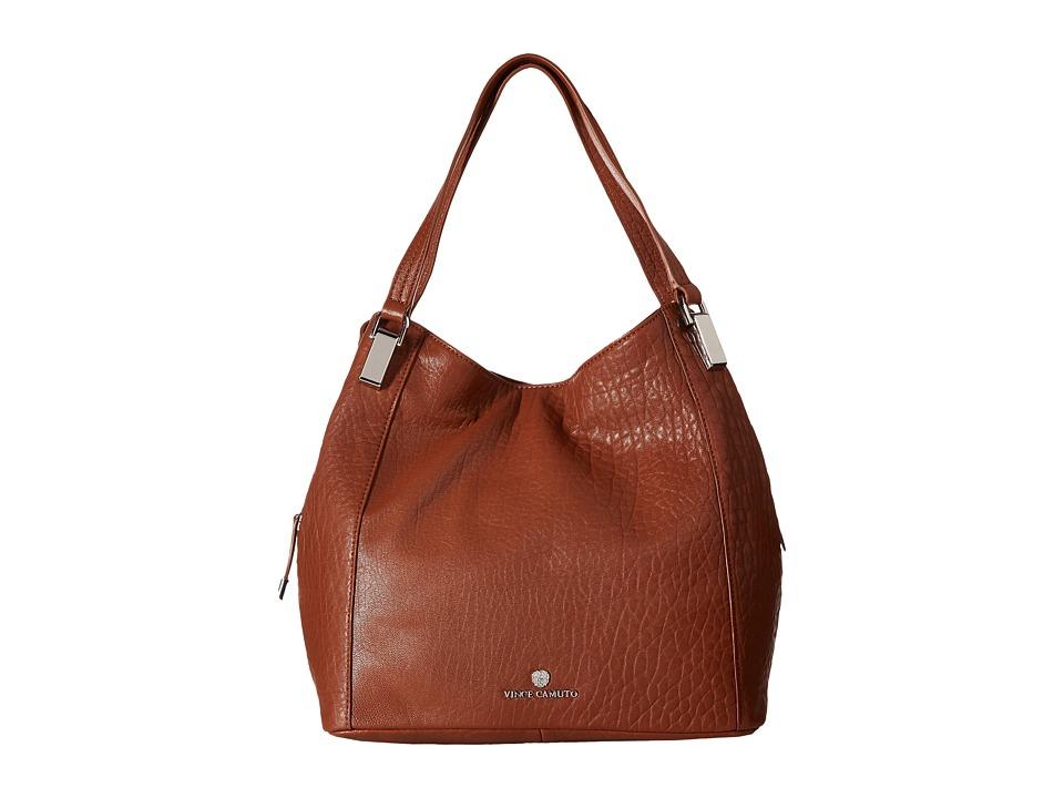 Vince Camuto - Riley Medium Tote (Cognac) Tote Handbags