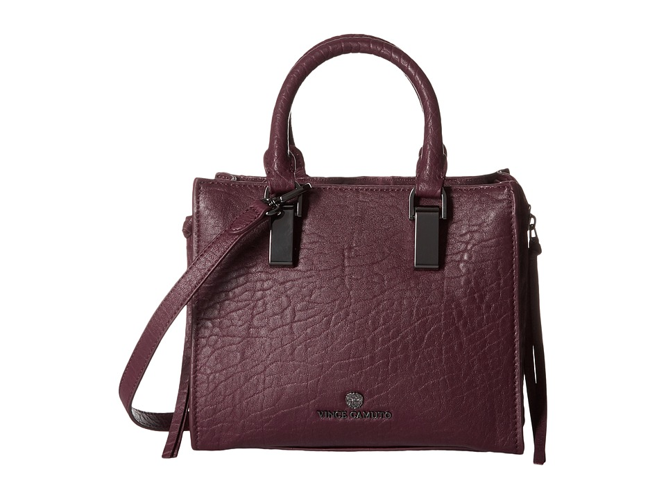Vince Camuto - Riley Small Satchel (Plum) Satchel Handbags