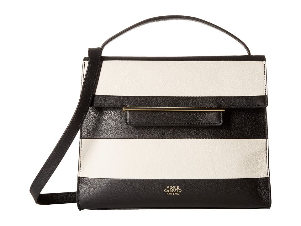 Vince Camuto - Aster Satchel (Black/Snow White) Satchel Handbags