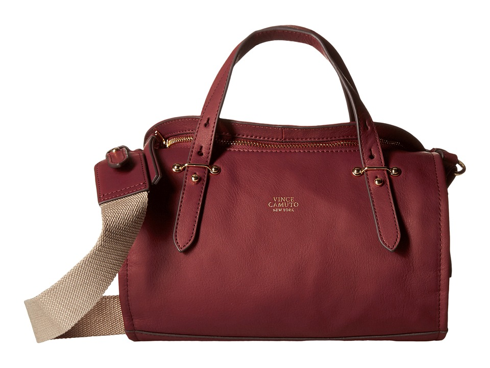 Vince Camuto - Cass Small Satchel (Malbec/Natural) Satchel Handbags