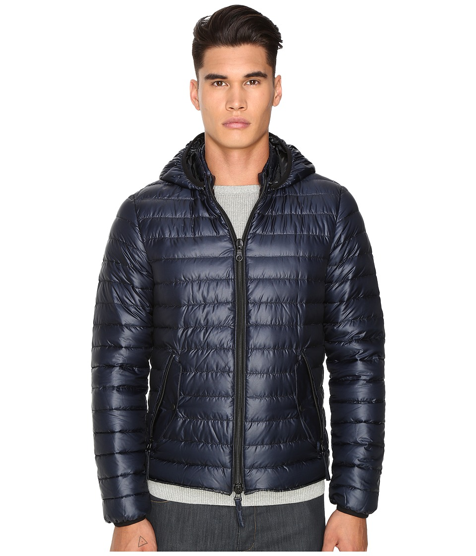 DUVETICA - Troilo Quilted Down Hooded Jacket (Blue Navy) Men's Coat