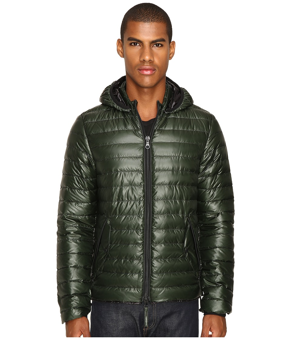 DUVETICA - Troilo Quilted Down Hooded Jacket (Foresta) Men's Coat