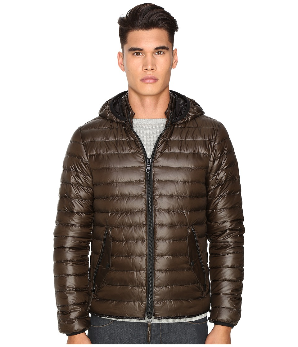DUVETICA - Troilo Quilted Down Hooded Jacket (Mugo) Men's Coat