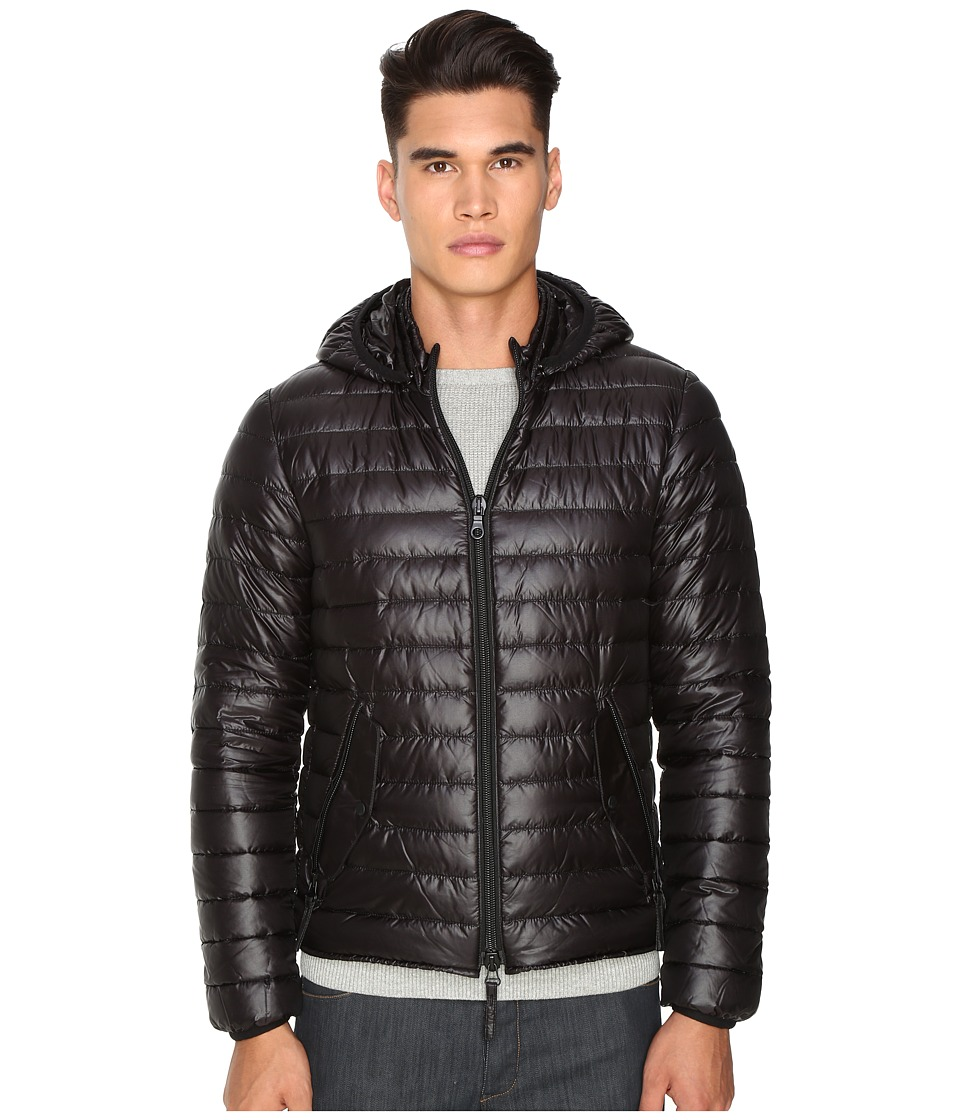 DUVETICA - Troilo Quilted Down Hooded Jacket (Allblack) Men's Coat