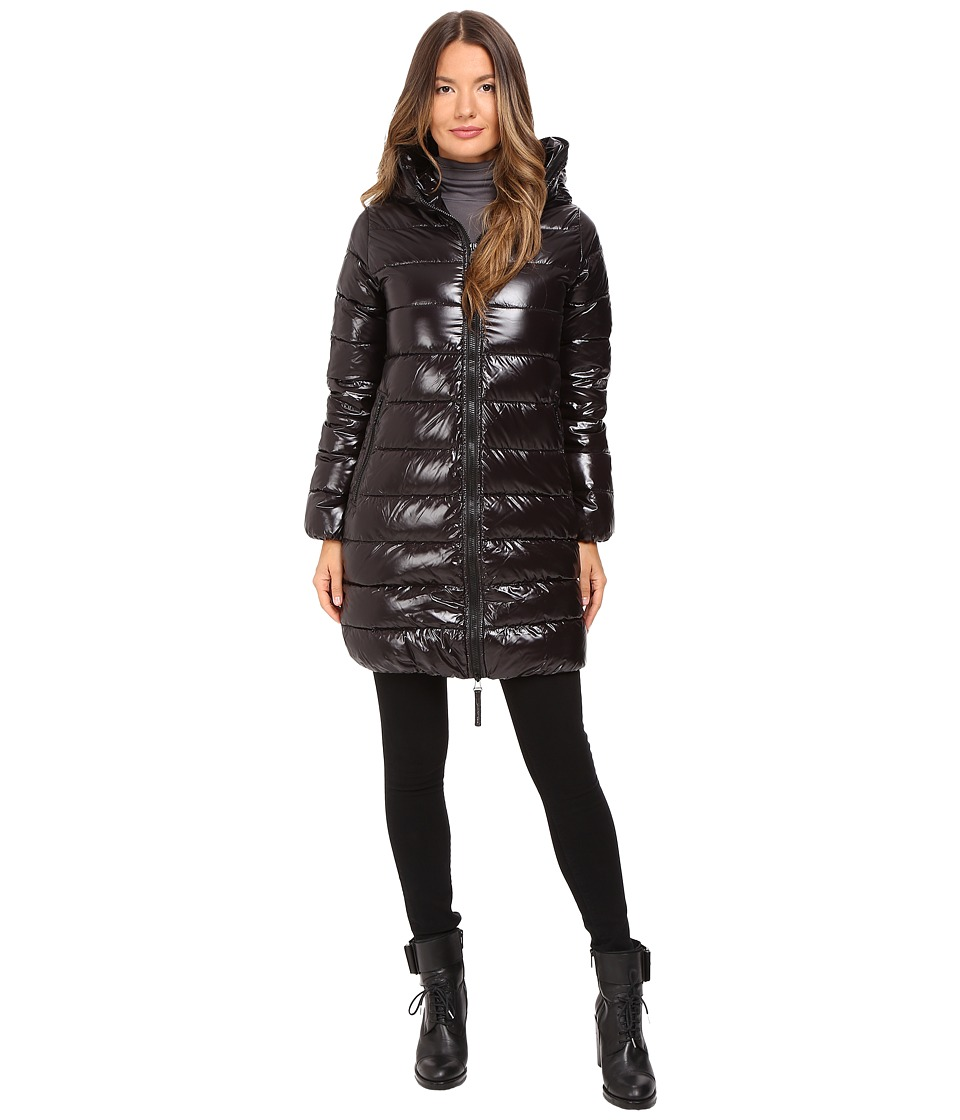 DUVETICA - Ace Long Quilted Down Coat (All Black) Women's Coat