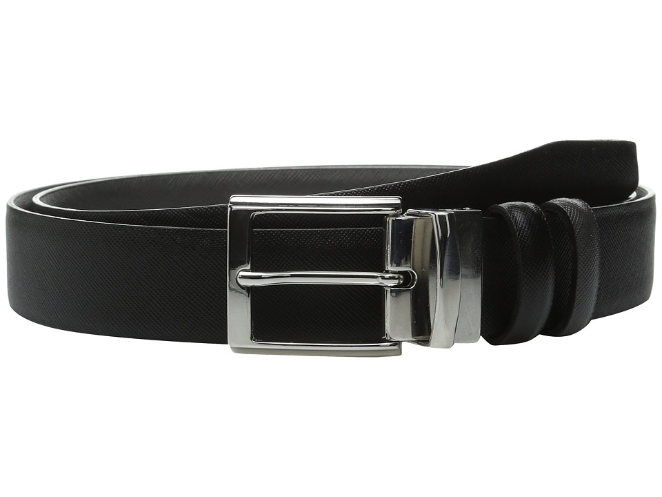 BUGATCHI - Reggio (Nero/Grigio) Men's Belts
