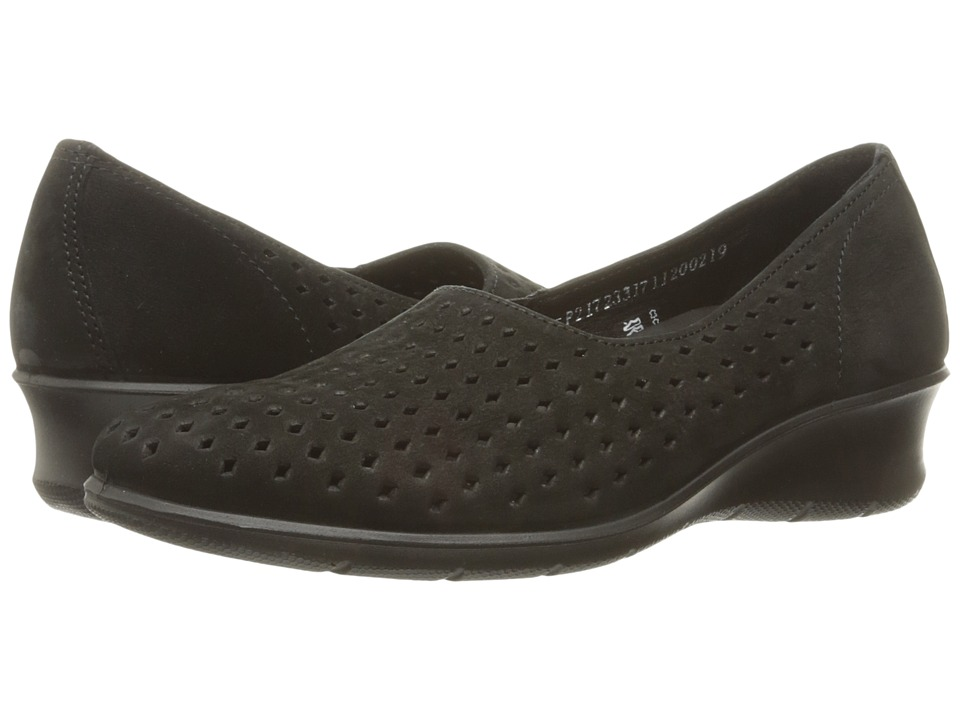 ECCO - Felicia Summer Slip-On (Black) Women's Slip on Shoes