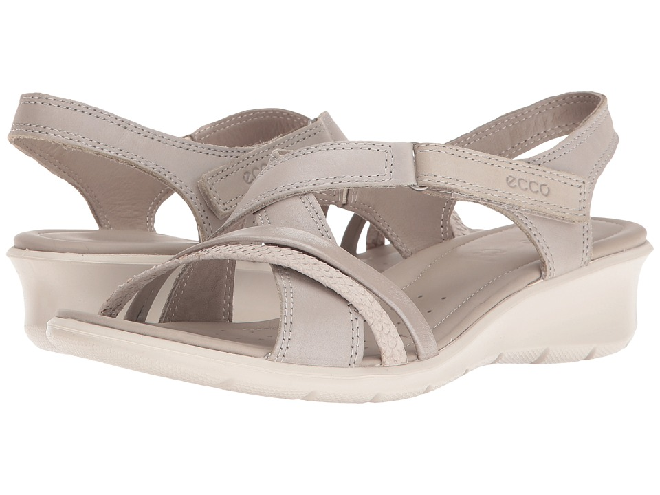 ECCO - Felicia Sandal (Gravel/Moon Rock/Moon Rock/Silver) Women's Sandals