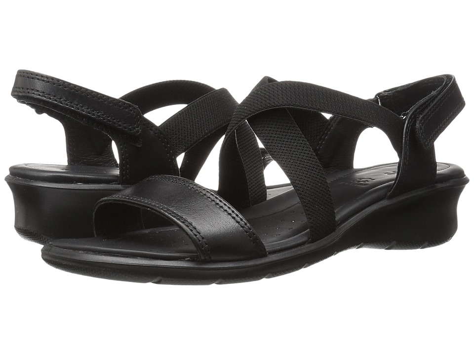 ECCO - Felicia Casual Sandal (Black Cow Leather) Women's Sandals