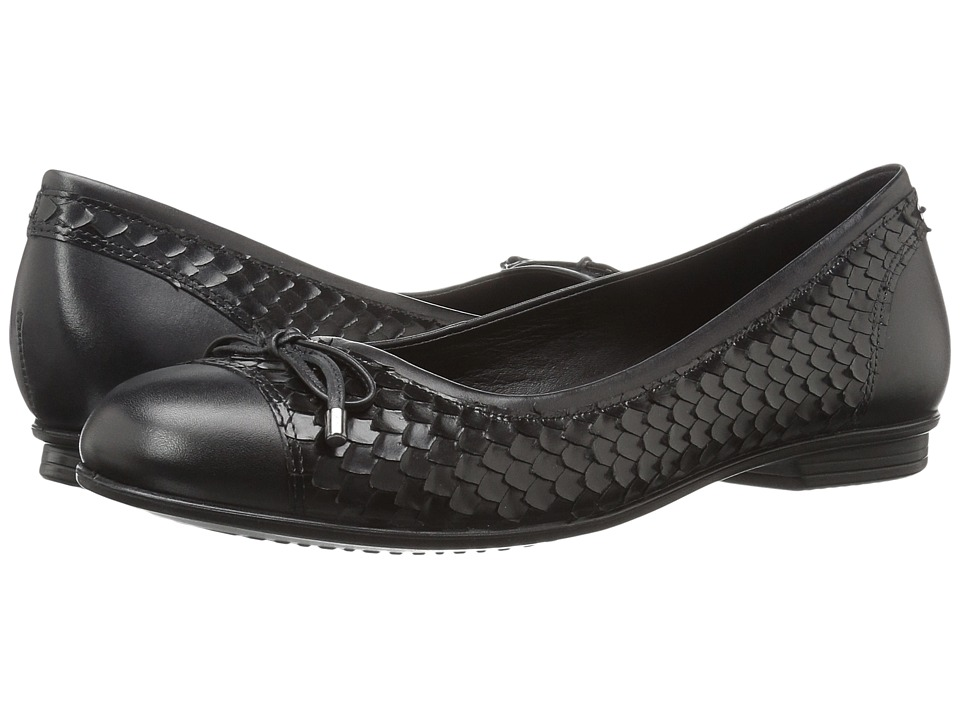 ECCO - Touch Ballerina Bow (Black/Black 1) Women's Flat Shoes