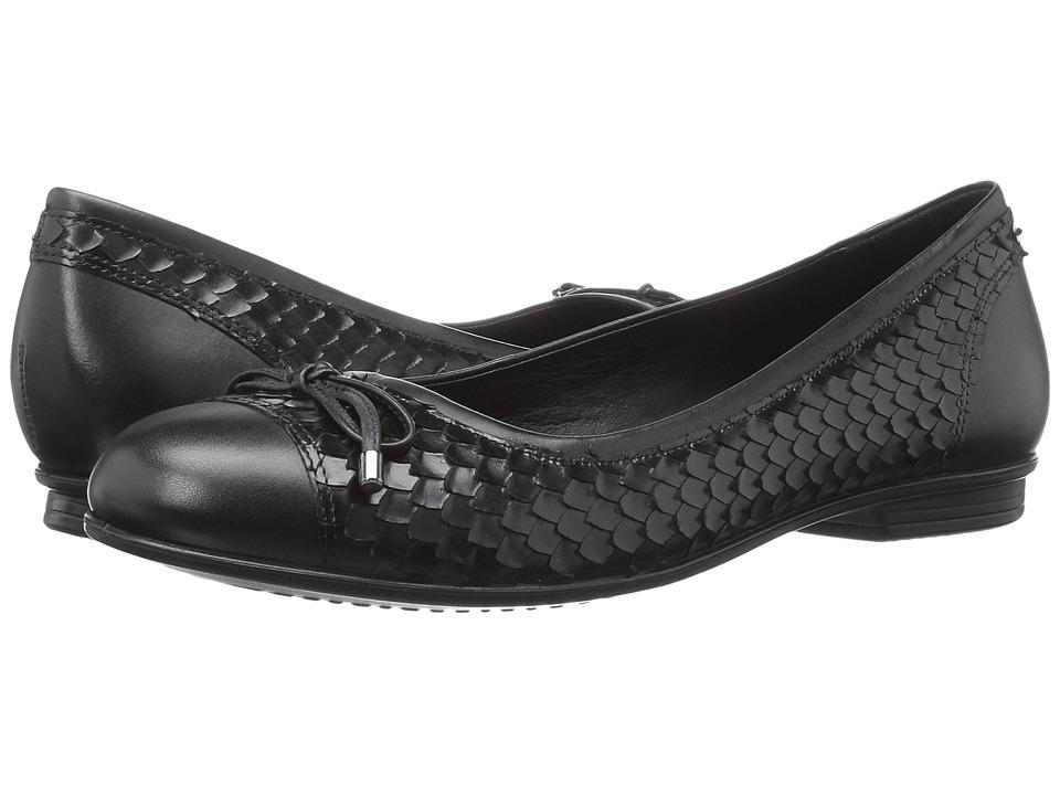 ECCO - Touch Ballerina Bow (Black/Black 1) Women's Flat Shoes