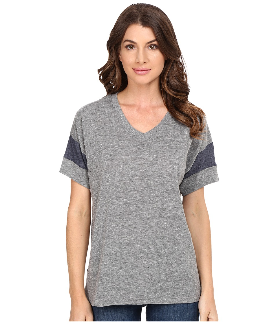 Alternative - Powder Puff Tee (Eco Grey/Eco True Navy) Women's T Shirt