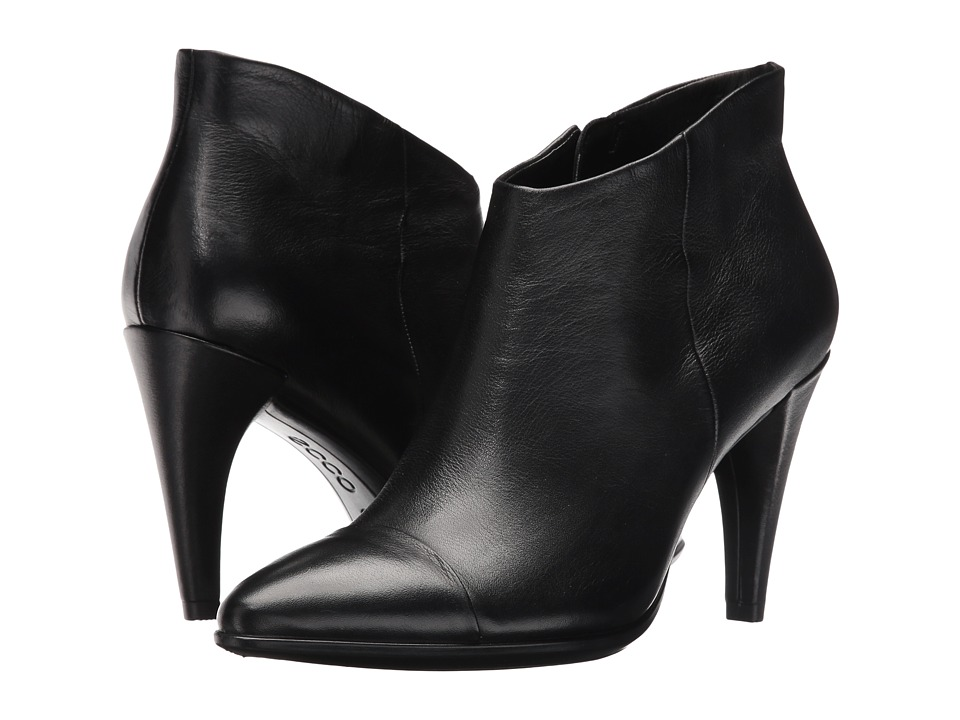 ECCO Shape 75 Low Cut Boot (Black Calf Leather) Women